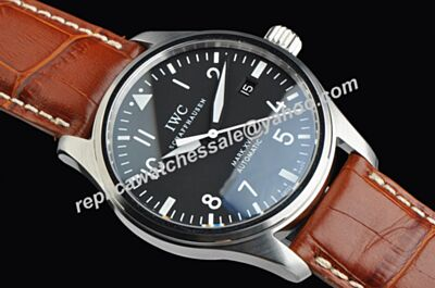 Swiss Replica IWC Pilot's Mark XVI Luminous White Gold  Date Watch IWC036