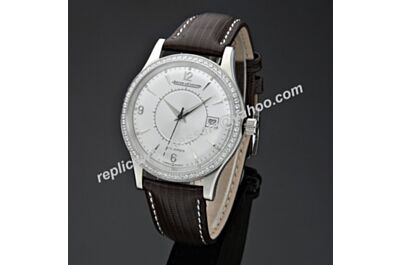 Swiss replica Jaeger-LeCoultre Master Memovox Paved Diamonds Bezel Watch JJ054
