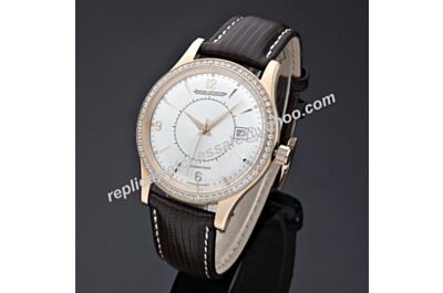 Swiss Made Jaeger-LeCoultre Master Memovox Auto Rose Gold Diamond Watch JJ058
