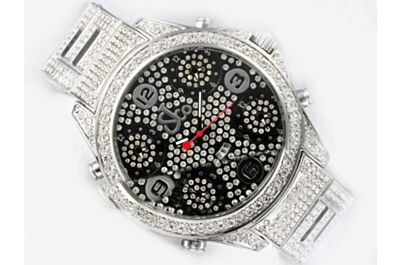 Jacob & Co Five Time Zone Diamond Face Jewelry Date Watch
