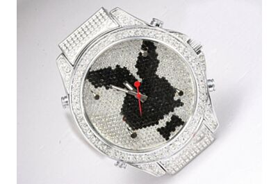 Ladies Jacob & Co Five Time Zone Playboy All Diamond Faux Watch