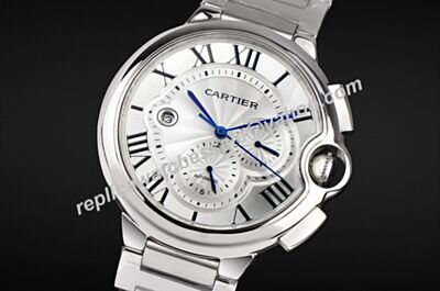 47mm W6920031 Ballon Bleu de Cartier Chronograph Date Faux Ss Watch