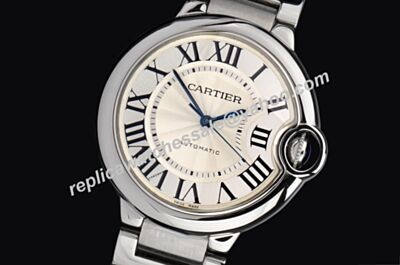 Ballon Bleu de Cartier Raised Dial All Silver Unisex Love Simple Watch