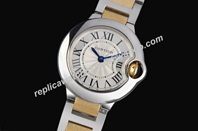 Ballon Bleu de Cartier W2BB0022 Men's No Date ss Case Gold Crown Watch