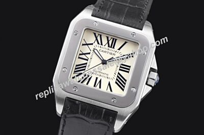 Cartier Santos 100 W20073X8 Swiss Made Silver Bezel No Nate 51MM Watch KDY049