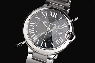 Ballon Bleu de Cartier W6920042 All Silver Black Swiss Auto Replicated Watch KDY052