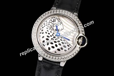 Special Ballon Bleu de Cartier Diamond Leopard patterned 42mm  Quartz Watch KDY062