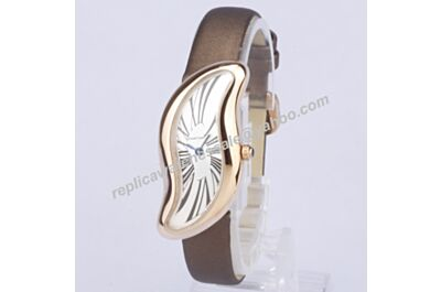 Cartier Crash Special Edition Champagne Gold 28mm Asymmetrical Rep Watch 1967