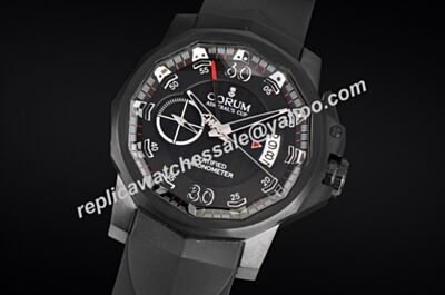 Corum Admiral's Cup Seafender 44 Centro Chrono 961.101.04.F231 AN14 Carbon Black Watch Copy