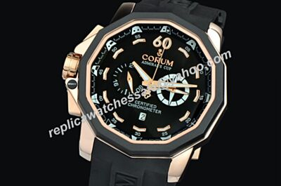 Fake Corum Admiral's Cup Seafender Chronograph 24 Hours Date 2-Tone Bezel Watch