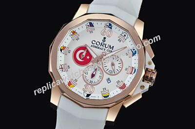 Rep Admiral's Cup Challenger Chronograph 18K Rose Gold 24 Hours Dial Moonphase Watch