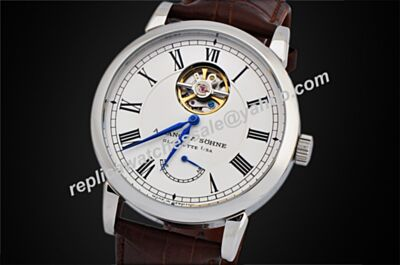 A. Lange & Sohne 1815 gebraucht Tourbillon Brown leather Automatic  Replica Watch