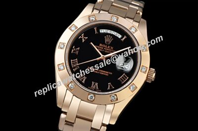 Swiss Rolex 36mm Automatic Movement Day Date Pearlmaster Yellow Gold SS Watch LLS166