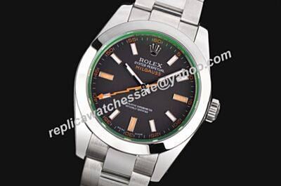 Rolex Steel Swiss Milgauss 116400GV, Black Dial Oyster Watch LLS199
