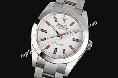 Rolex Mens 116400-72400 Milgauss - White Dial Swiss Made Watch LLS200