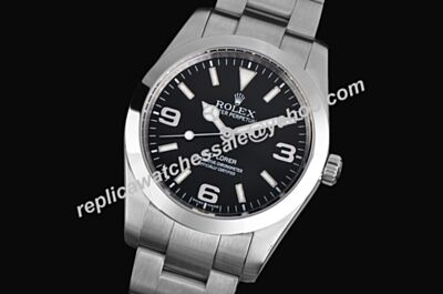 Rolex 114270-78690 Swiss Explorer I Black Dial Steel Mens Watch LLS201
