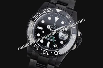 Rolex 116710LN GMT Master II Swiss Pro-Hunter Special All Black 40mm Watch LLS204