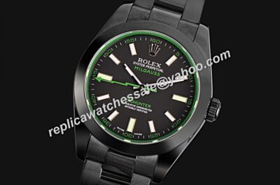 Rolex 116400gv Milgauss Green Hand All Black Pro-Hunter Watch LLS215