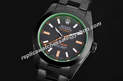 Swiss Rolex Pro-Hunter Milgauss PVD/DLC 116400GV 40mm Watch LLS216