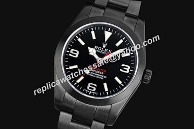 Swiss Rolex Explorer I Steel Special All Black Pro-Hunter Watch LLS217