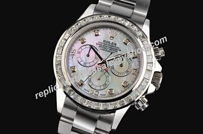 Rolex Pearlmaster Swiss Fake Auto 40mm Daytona Diamonds Bezel &Scale Watch LLS380