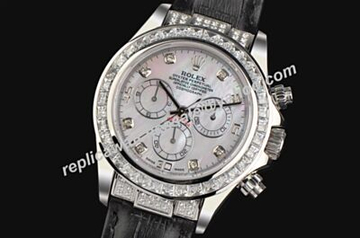 Rolex Swiss Movement 116589RB Daytona Pearlmaster Diamonds Knockoffs Watch LLS389