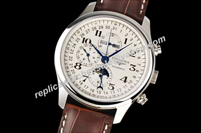 Longines Master Collection L2.773.4 Moonphase White Gold Cheap Replica Watch
