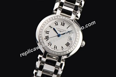 Cheap Replica Longines PrimaLuna L8.110.0.87.6 Diamonds Ladies Quartz Date Watch