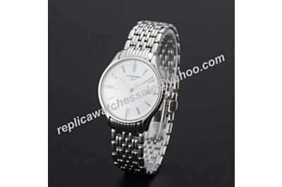 Longines Lyre Swiss Calibre Men Stainless Steel Bracelet White Gold Face Diamonds Watch 35MM LQ005
