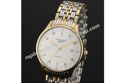 Swiss Longines Lyre REF L4.359.2.12.7 Ladies Yellow Gold Diamind Quartz Date Watch LQ007