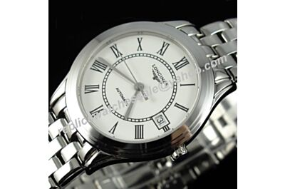 Mens Longines L4.716.4 Flagship Heritage White Gold Swiss Made Auto 35mm Watch LQ012