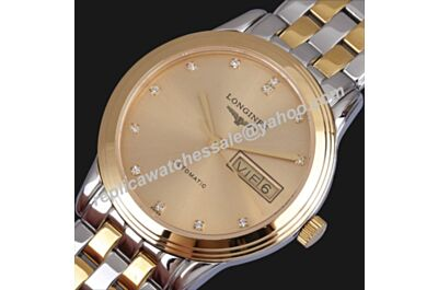 Longines Flagship L4.774.3.37.7 Rose Gold Swiss Day-Date Daimond Watch Replica LQ028