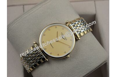 Swiss replica Longines La Grande Classique De Longines Special 2-tone Weave Design Bracelet Watch