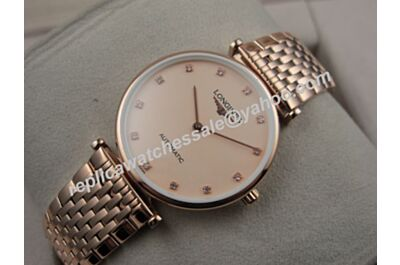 Longines La Grande Classique All Rose Gold Quartz Swiss Fake 24MM Women Watch