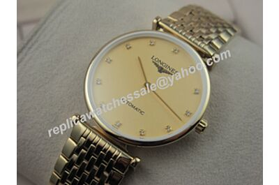Longines La Grande Classique Pvd Gold  Quartz L4.209.2.32.7 Swiss 24MM Watch Fake