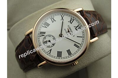 Longines La Grande Classique Presence 39mm Men Gold Steel Watch Swiss Replica