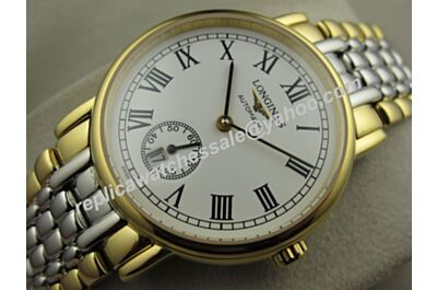 Swiss Longines Ref Yellow Gold Automatic Presence Men's 35mm Bracelet Watch