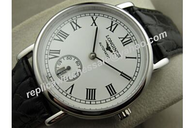 Longines Presence L4.804.4.11.2 White Gold Plated Swiss Movement Watch