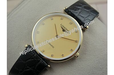 Swiss Made Lady Diamonds Longines La Grande Classique De Longines Yellow Gold  Watch