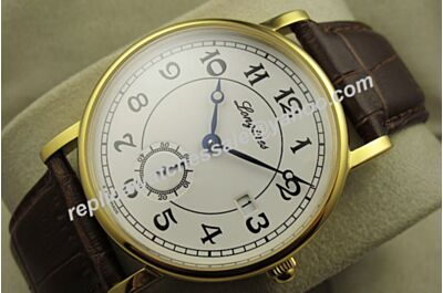 Swiss Longines Heritage Conquest Classic 18K Rose Gold Auto Seconds Repeater Date Watch LQ067