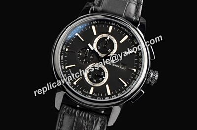Maurice Lacroix Masterpiece Chrono Black Ref MP6318-SS001-32E 40mm All Black Rep Watch