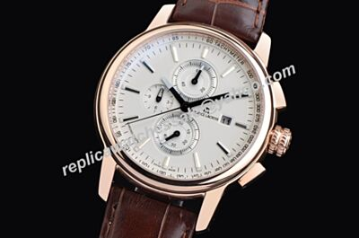 Maurice Lacroix Masterpiece Chronograph Ref MP6318-PS101-12E Dial Repeat Rose Gold 3D Bezel Watch