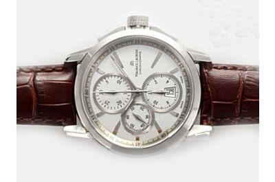 Swiss Replica Maurice Lacroix Pontos Automatic Chronograph PT6388-SS001-130-1 Retro White Gold Watch ML001
