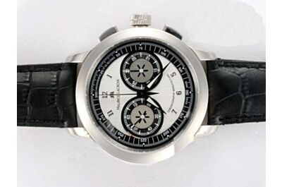 Maurice Lacroix Masterpiece Chrono 45mm White Gold Swiss Movement 2-Tone Watch ML005