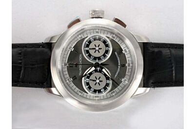 Swiss Maurice Lacroix Masterpiece Ref MP7128-SS001-320 Chronograph White Gold 45mm Gents Watch Clone ML006