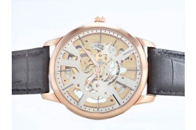 Maurice Lacroix Masterpiece Skeleton Men Auto 43mm Rose Gold Bezel Watch