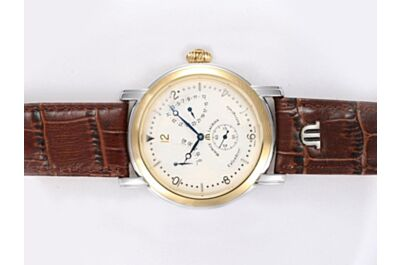 Maurice Lacroix Masterpiece Automatic MP7068-PS101-190 Lune Retrograde Rose Gold SS Auto Watch