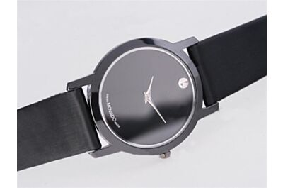 Cheap replica Movado Ref 0604230 Moderna Quartz Calibres All Black Design Watch