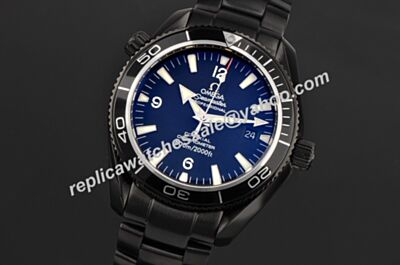 Replica Omega Seamaster 600m/2000ft Swiss  Titanium Black  Luminous Crystal Back Watch