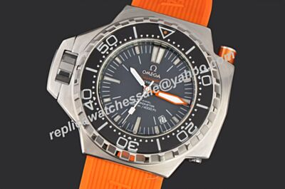 Swiss Omega Seamaster 1200m Chronograph Ref 224.32.55.21.01.002 Ploprof 48m White Gold Luminous Watch OMJ019